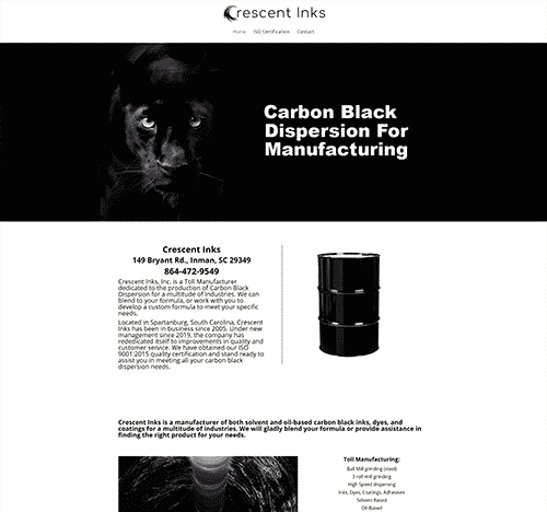 Crescent Inks - Carbon Black Dispersion Manufacturers - Spartanburg SC